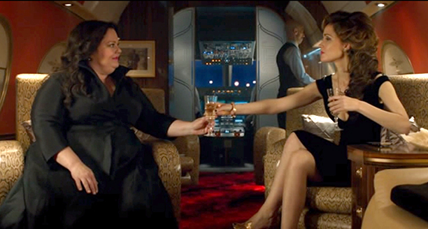 7. Melissa McCarthy and Rose Byrne Fight on a Plane in Spy
