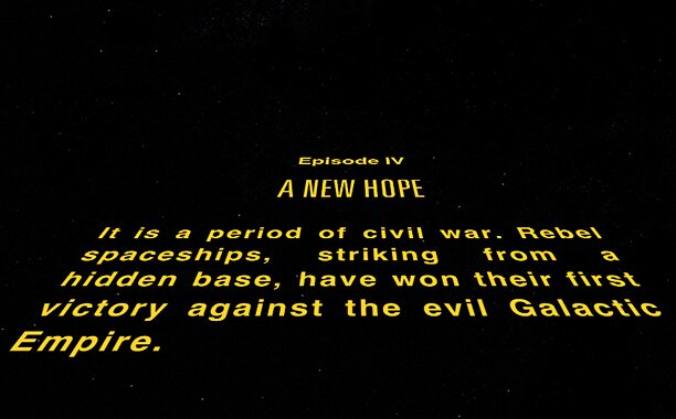Star Wars Crawl App Lets Fans Create Their Own Intro Ew Com