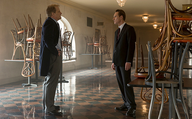 6. Michael Fassbender and Jeff Daniels Square Off in Steve Jobs
