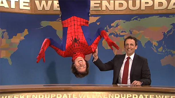 Andy Samberg as Spider-Man on Saturday Night Live