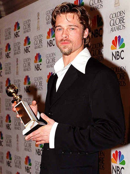 Brad Pitt, Golden Globes | When Brad Pitt mounted the stage after winning the Best Supporting Actor award for 12 Monkeys , first on his thank-you list was not costar…
