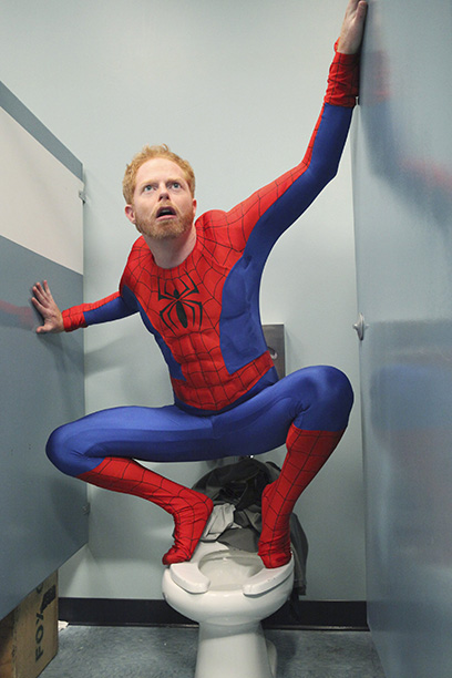 Jesse Tyler Ferguson as Mitchell Pritchett as Spider-Man in Modern Family