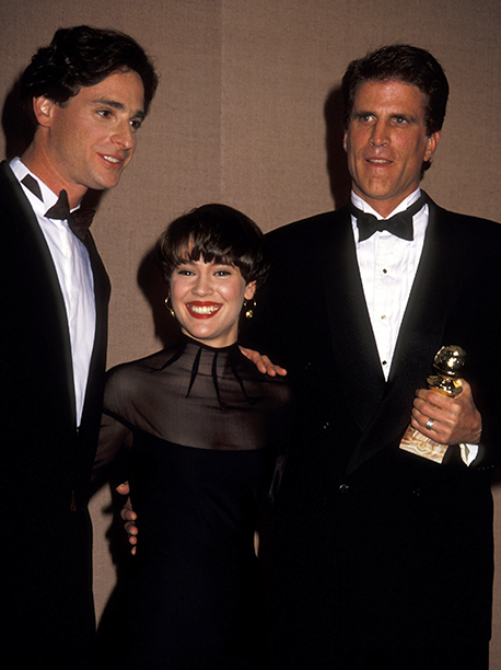 Bob Saget, Alyssa Milano, and Ted Danson