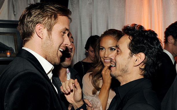 Ryan Gosling, Jennifer Lopez, and Marc Anthony