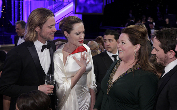 Brad Pitt, Angelina Jolie, Melissa McCarthy, and Ben Falcone