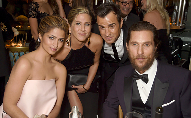 Camila Alves, Jennifer Aniston, Justin Theroux, and Matthew McConaughey