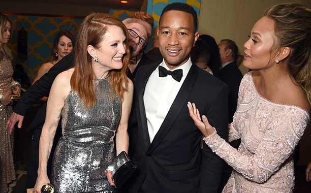 Julianne Moore, John Legend, and Chrissy Teigen