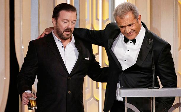 Ricky Gervais and Mel Gibson Play Nice