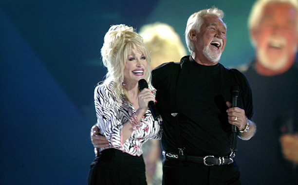 June 2005 With Kenny Rogers at CMT's 100 Greatest Duets Concert