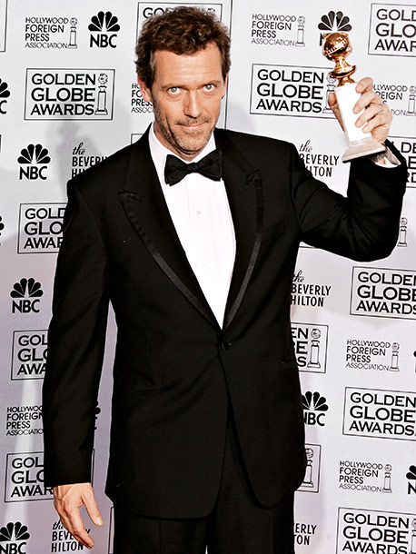 Hugh Laurie, Golden Globes | Accepting the award for Best Actor in a Drama for his grouchy doctor role on Fox's House , Hugh Laurie noted that he had 172…