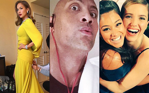 Stars' Golden Globes Instagrams