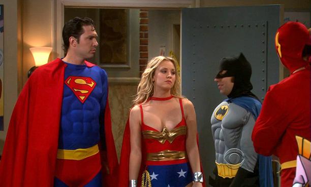 Kaley Cuoco as Penny as Wonder Woman on The Big Bang Theory