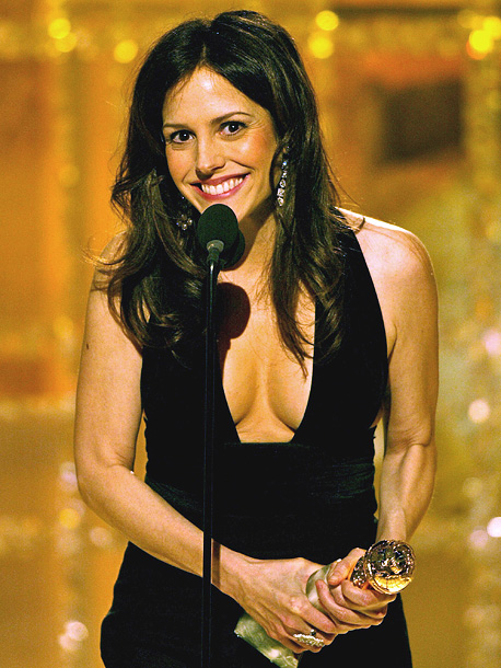 Mary-Louise Parker, Golden Globes | ''Janel Maloney just told me she would pay me $1,000 if I thanked my newborn son for my boobs looking so good in this dress.…