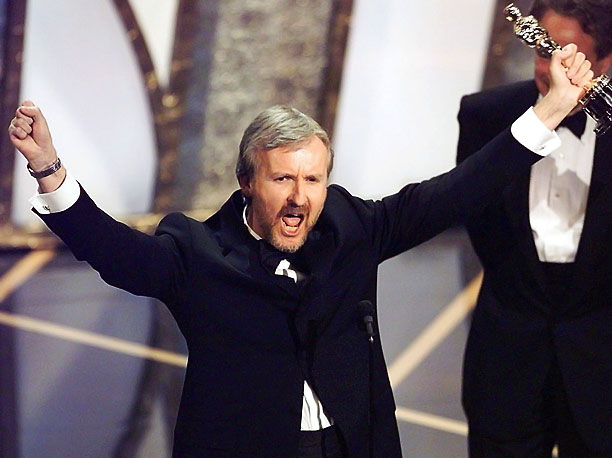 Academy Awards | Shout-from-the-mountaintops speeches were par for the course in 1997, but no winner felt more elated than Cameron, who wrapped up his Best Director acceptance with…