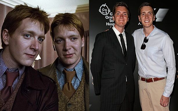 James and Oliver Phelps (Fred and George Weasley)