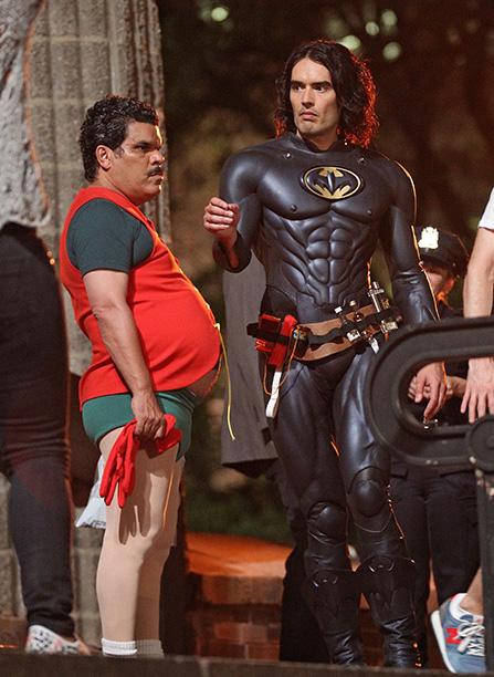 Luis Guzman as Robin and Russell Brand as Batman