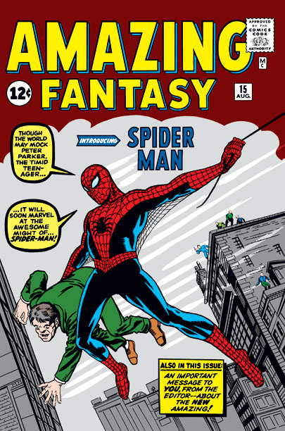 Amazing Fantasy | Brought to Life by: Stan Lee and Steve Ditko Perhaps the first comic book hero who wasn't so different from readers, the webslinger is a…