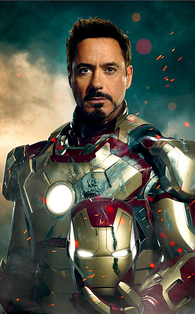 Robert Downey Jr., Iron Man 3 | Brought to Life by: Robert Downey Jr. With 2008's Iron Man , Downey took the uptight, law-and-order-oriented Tony Stark and made him Hugh Hefner in…