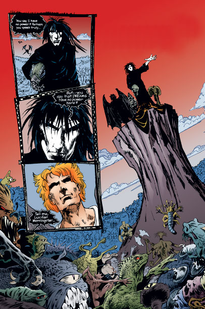 The Sandman: Endless Nights | Brought to Life by: Neil Gaiman This shadowy character from Gaiman's Sandman series is the immortal personification of fantasy. Known by many names, including simply…