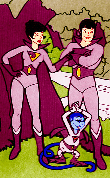 Created by Hanna-Barbera for the 1977 All-New Super Friends Hour TV cartoon, one twin could shapeshift into an animal and the other into...water? Pretty drippy.…