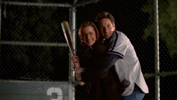 Mulder and Scully Play Baseball (Season 6, Episode 19)