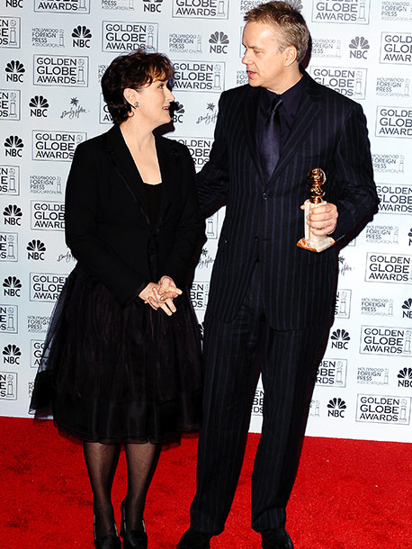 Tim Robbins, Meryl Streep, ... | Mystic River 's Tim Robbins won the first trophy of the evening, and his comments set the tone for the night. ''A good thing about…