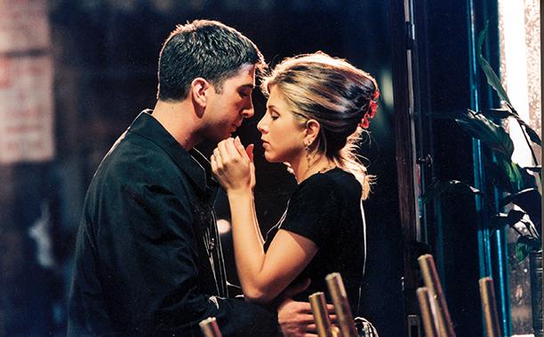 Ross Gellar and Rachel Green