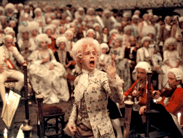 Miloš Forman's biopic of the Austrian composer prodigy Wolfgang Amadeus Mozart is a brilliant bait-and-switch. Why? Because the main character isn't Mozart at all. It's…