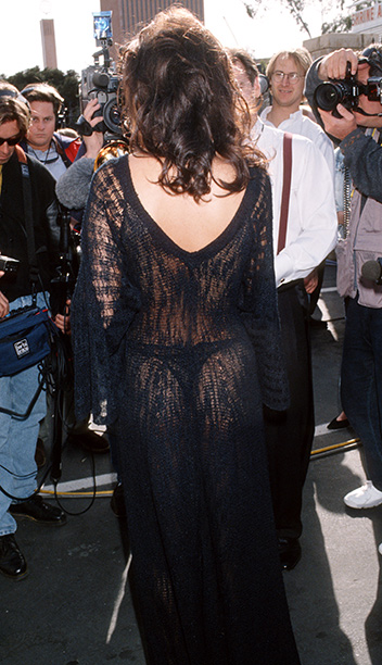 Celine Dion probably remembers 1993 as the year she won her first Grammy, but who can forget the sight of her in a black knit…
