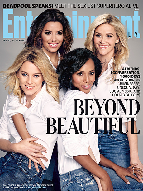 Elizabeth Banks, Eva Longoria, Kerry Washington and Reese Witherspoon on the cover of Entertainment Weekly