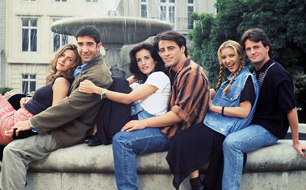 The One Where They All Casually Sit On A Fountain