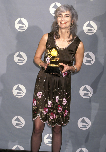 Emmylou Harris With Her Best Contemporary Folk Album Grammy for Wrecking Ball