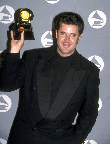 "Vince Gill, Winner of the Grammys for Best Male Country Vocal Performance and Best Country Song for ""Go Rest High on That Mountain"" and"