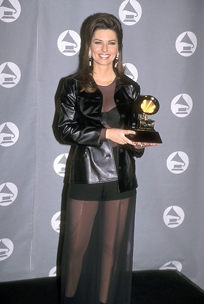 Shania Twain With Her Best Country Album Grammy for The Woman in Me