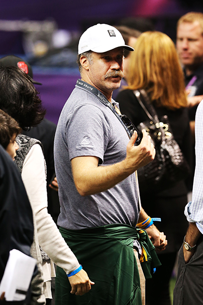 Will Ferrell at Super Bowl XLVII (Baltimore Ravens vs. San Francisco 49ers) in 2013