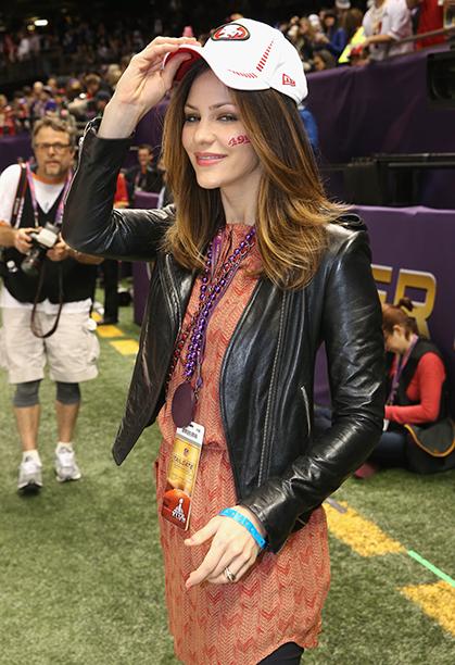 Katharine McPhee at Super Bowl XLVII (Baltimore Ravens vs. San Francisco 49ers) in 2013