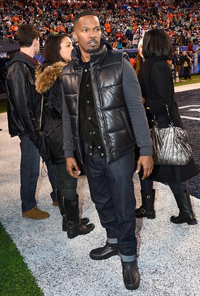 Jamie Foxx at Super Bowl XLVIII (Seattle Seahawks vs. Denver Broncos) in 2014