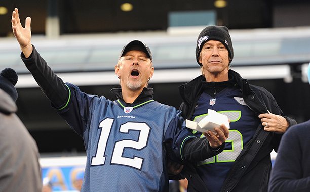 Jerry Cantrell and Duff McKagan at Super Bowl XLVIII (Seattle Seahawks vs. Denver Broncos) in 2014