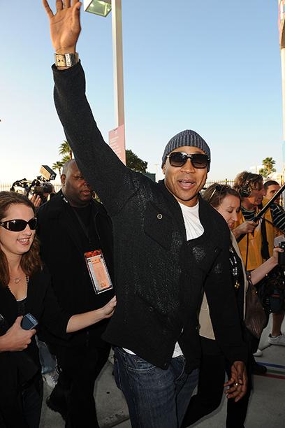 LL Cool J at Super Bowl XLIV (New Orleans Saints vs. Indianapolis Colts) in 2010