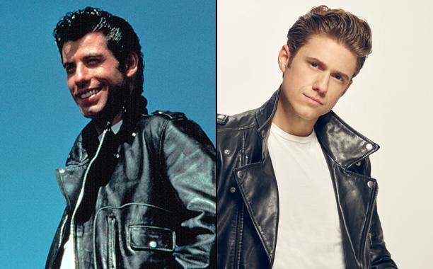 John Travolta as Danny and Aaron Tveit as Danny
