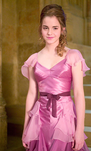 Hermione at the Yule Ball in Harry Potter and the Goblet of Fire