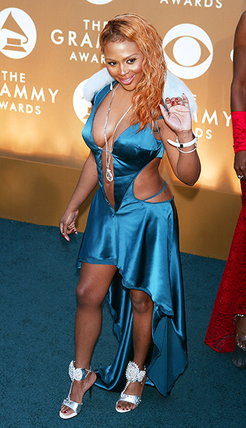 In another example of covering up the wrong body parts, the mullet dress Lil' Kim wore in 2004 had a barely-there bodice and a full…