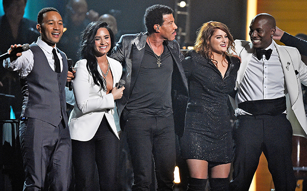 """John Legend, Demi Lovato, Luke Bryan, Meghan Trainor, Tyrese, Lionel Richie perform Richie Tribute """"Easy / Hello / Penny Lover / You Are The Sun, You Are The Rain / Brick House / All Night"""""""
