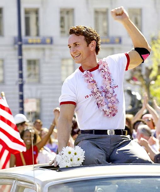 17. Sean Penn as Harvey Milk
