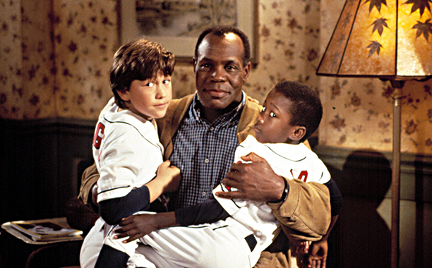 1994 With Danny Glover and Milton Davis, Jr. in Angels in the Outfield
