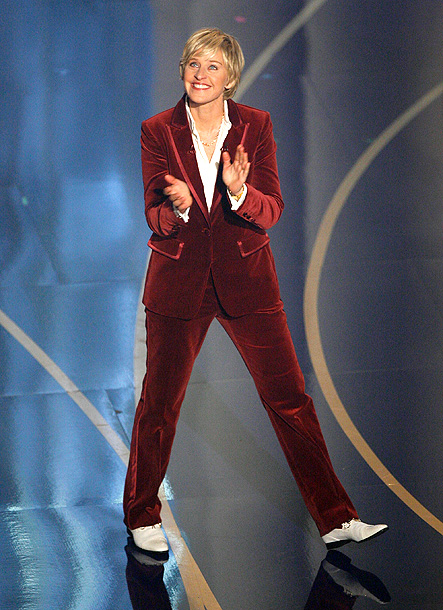 Ellen DeGeneres, Oscars 2007 | The brilliance of DeGeneres' stint as host is that she came off like the anti-Rock — all effusive, chatty charm — while fitting in a…