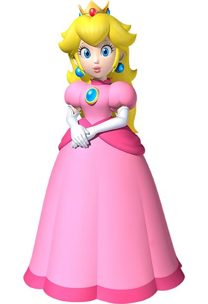 Princess Peach from Super Mario Bros.