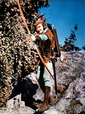 The Adventures of Robin Hood, Errol Flynn | The model of an action hero in 1938's The Adventures of Robin Hood , the dashing star made the swordplay and wooing look so effortless…