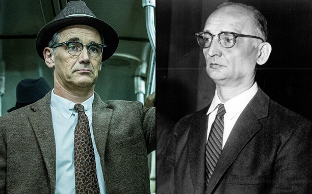 Mark Rylance as Soviet Intelligence Officer Rudolf Abel in Bridge of Spies