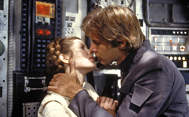 Han Solo and Leia Organa